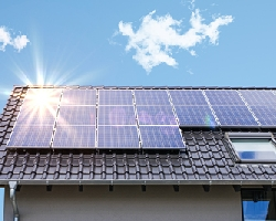 Photovoltaic panels on a roof