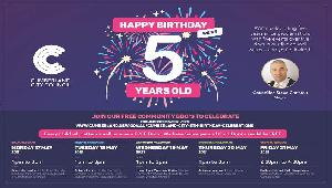 Cumberland City Council 5th birthday details with a quote from the Mayor about the celebration in 5 wards