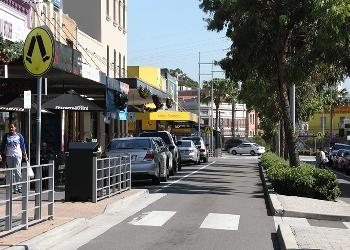 Granville town centre street view