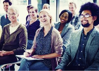 Diverse group of adults at seminar